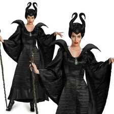 Womens Halloween Maleficent Angelina Evil Queen Fancy Dress Adult Party Costume