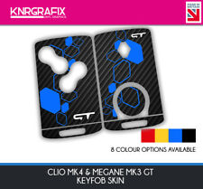 KNR0001 GT MEGANE MK3 - CLIO MK4 KEYFOB SKIN - KEY STICKER - 8 COLOUR CHOICES