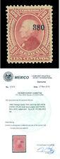 MEXICO 1875  HIDALGO  100c carmine  Scott # 116  mint MH VF-XF  w/Cert.