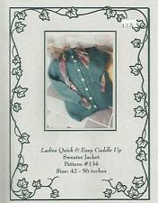Ladies Quick & Easy Cuddle Up Sweater Jacket Knitting Pattern Terry Preisner