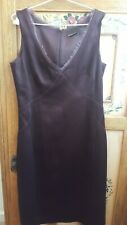 Stunning DAVID LAWRENCE ladies wine coloured special occasion dress  (size 10)
