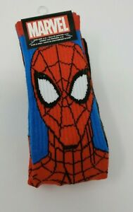 NEW Marvel Avengers Spider-Man Adult Crew Socks Two Pair Size 6-12