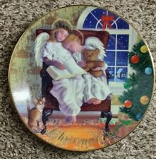 "Avon Collector Plate 1997 Christmas ""Heavenly Dreams"" Christmas Plate 22K Gold"