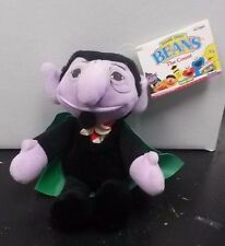 THE COUNT SESAME STREET BEANS DOLL W/ TAGS