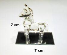magnifique cheval en verre sur socle miroir, envoi gratuit en relais  G12