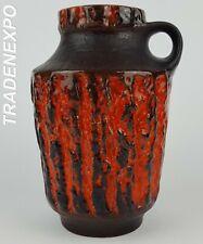 60-70 Vintage CARSTENS TONNIESHOF KERAMIK Vase 222/20 W German Pottery Fat Lava