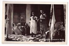 Africa real photo postcard Morocco Tetuan Comercio Moro Spain