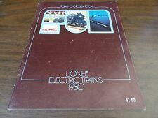 1980 LIONEL TRAIN CATALOG – ORIGINAL – IN GOOD TO VERY CONDITION