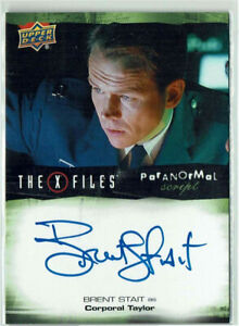 X-Files UFOs and Aliens 2019 Autograph Card A-BS Brent Stait as Corporal Taylor