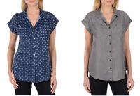NEW Jachs Girlfriend Women's Cap Sleeve Button Down Shirt - VARIETY