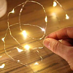 20 LED micro drop Fairy Lights with Silver Wire 3AA Battery Powered Christmas