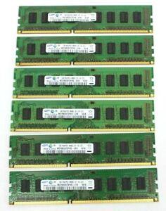 Samsung 6GB 6X1GB RAM 1RX8 PC3-8500U 240 pin Desktop Memory
