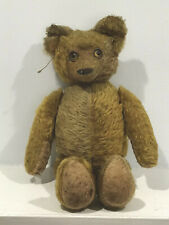 Antique Fully Jointed Mohair Teddy Bear Golden W/ Celluloid Eyes 16""