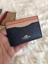 NWT COACH F30218 IMNH5 Women Card Case Colorblock
