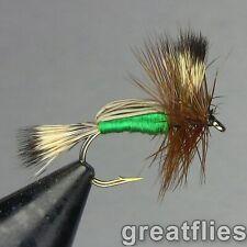 1 dozen (12) - Green Humpy