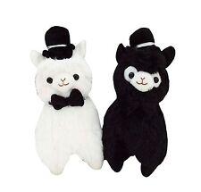 Conjunto de 2 Kawaii Top Hat Caballero Peluche Lindo Regalo Boda Novio llama alpacas