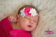 Princess-Dreams Mädchen Baby Haarband HB671 Taufe rosa Hochzeit Fotografie