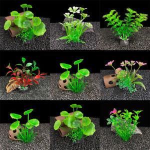 Artificial Aquatic Plant Aquarium Fish Tank Green Water Grass Flower Weed Decor