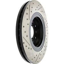 Disc Brake Rotor-Sport Drilled/Slotted Disc Front Left Stoptech 127.61080L