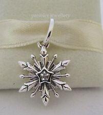 Authentic Genuine Pandora Silver Disney Frozen Snowflake Dangle Charm 791564CZ