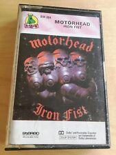 Motörhead MOTORHEAD - Iron fist MC 1990 RARE 1'ST POLISH PRESS