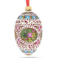 1914 Mosaic Royal Egg Glass Ornament