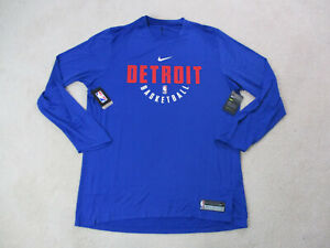 NEW Nike Detroit Pistons Shirt Adult 2XL XXL Player Issue Basketball Mens A12