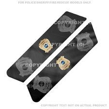 Saddlebag Decal Set For 08-13 Harley Police Model  -GOLD POLICE BADGE - 070