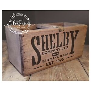 A5 STENCIL Peaky Blinders SHELBY COMPANY LTD Furniture Crates Vintage 190 MYLAR