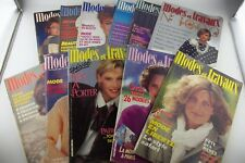 LOT of 11 Modes et Travaux 1984 Fashion Magazines Pattern Paris France French