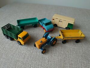 Small lot of Matchbox Lesney Farm Related Vehicles - 1:75 & Superfast