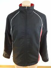 NORTH END MENS SIZE S BLACK & RED POLYESTER TRACK JACKET WINDBREAKER NICE!