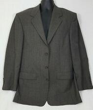 Bill Blass Parisian Plaid Checked Wool 3 Button Blazer Size 42