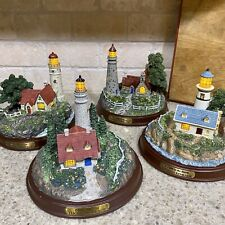 New Complete Collection Seaside Memories Lighted Lighthouses Thomas Kinkade 1999