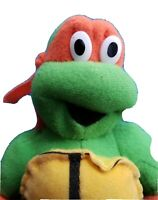 "TMNT Mikey 8"" Plush w/ Tags Stuffed Doll Teenage Mutant Ninja Turtles 2002"