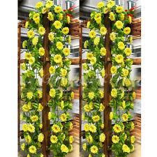 Fiore Giallo Artificiale Finto con Foglie Cadente Decorazione Casa Giardino