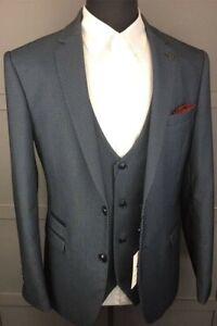 Marc Darcy Mens Designer Slim Fit Casual Suit Jacket 38R Brand New