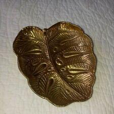 1948 Virginia Metalcrafters Solid Brass Oskar J W Hansen Monstera Leaf 4-12 Rare