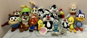Looney Tunes Assorted Character Soft Plush Toy Collection - 17 Toys