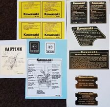 KAWASAKI Z1100R Z1000 WARNING DECAL KIT