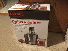 NIB GNC Live Well Deluxe Juicer.  Black & Stainless..700 Watt.