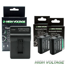 High Capacity Battery for GoPro HD HERO4 Black & Silver AHDBT-401 + Fast Charger