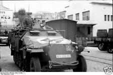 German Army Half Track France 1942 World War 2 Reprint Photo 6x4 Inch