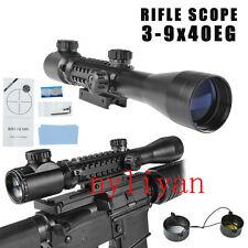 3-9x40EG Illuminated Red/Green Optics Sniper Scope Sight For Gun Air Rifle TOP