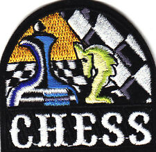 """""""CHESS"""" PATCH -  Iron On Embroidered Applique Patch-  Competition. Game"""