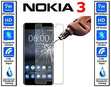 Genuine 100% TEMPERED GLASS Invisible Screen Protector For Nokia 3