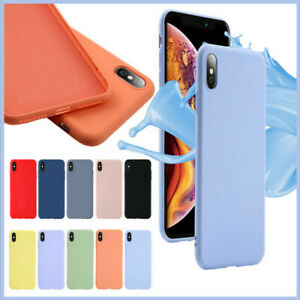 Soft Matte TPU Silicone Phone Case Cover for Apple iPhone 6 7 8 X XS XR Plus Max