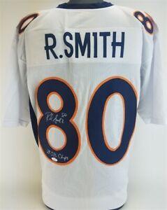 "Rod Smith ""2x SB Champs"" Signed Denver Broncos Custom White Jersey (JSA COA)"