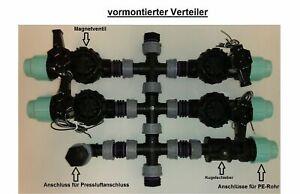 Verteiler für Ventilbox vormontierter inkl Rain Bird Magnetventil Bewässerung