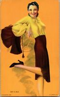 Vintage 1940s Mutoscope Glamour Girls Pin-Up Card - Dat-a-ble